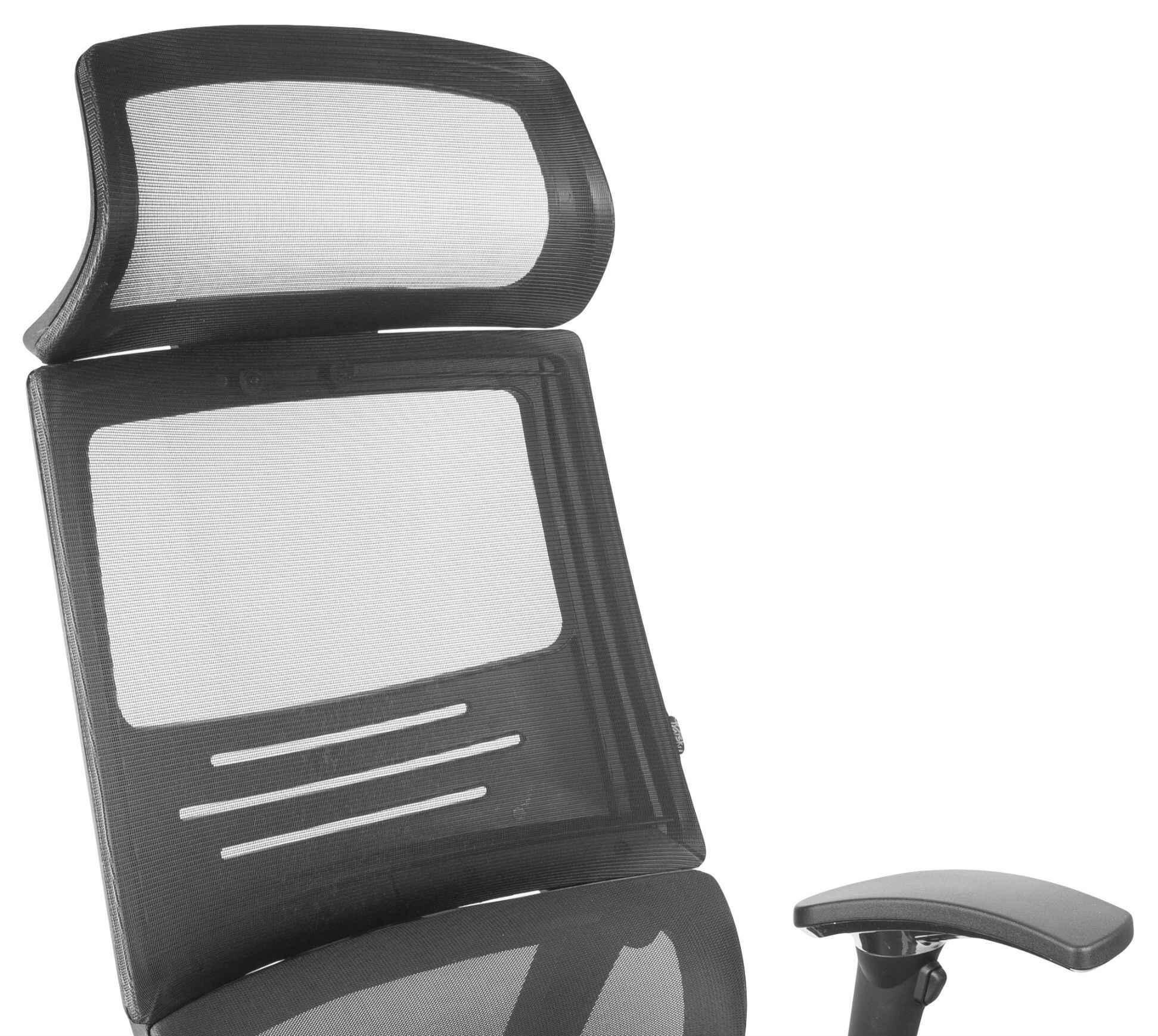 сеточное черное кресло