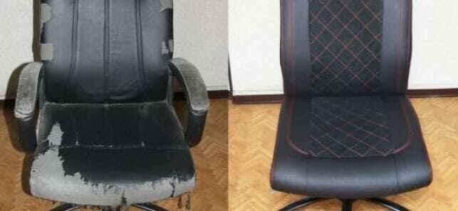 кресло потертое