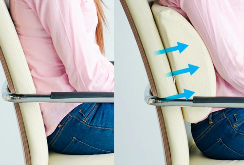 подушка для поясницы в кресле