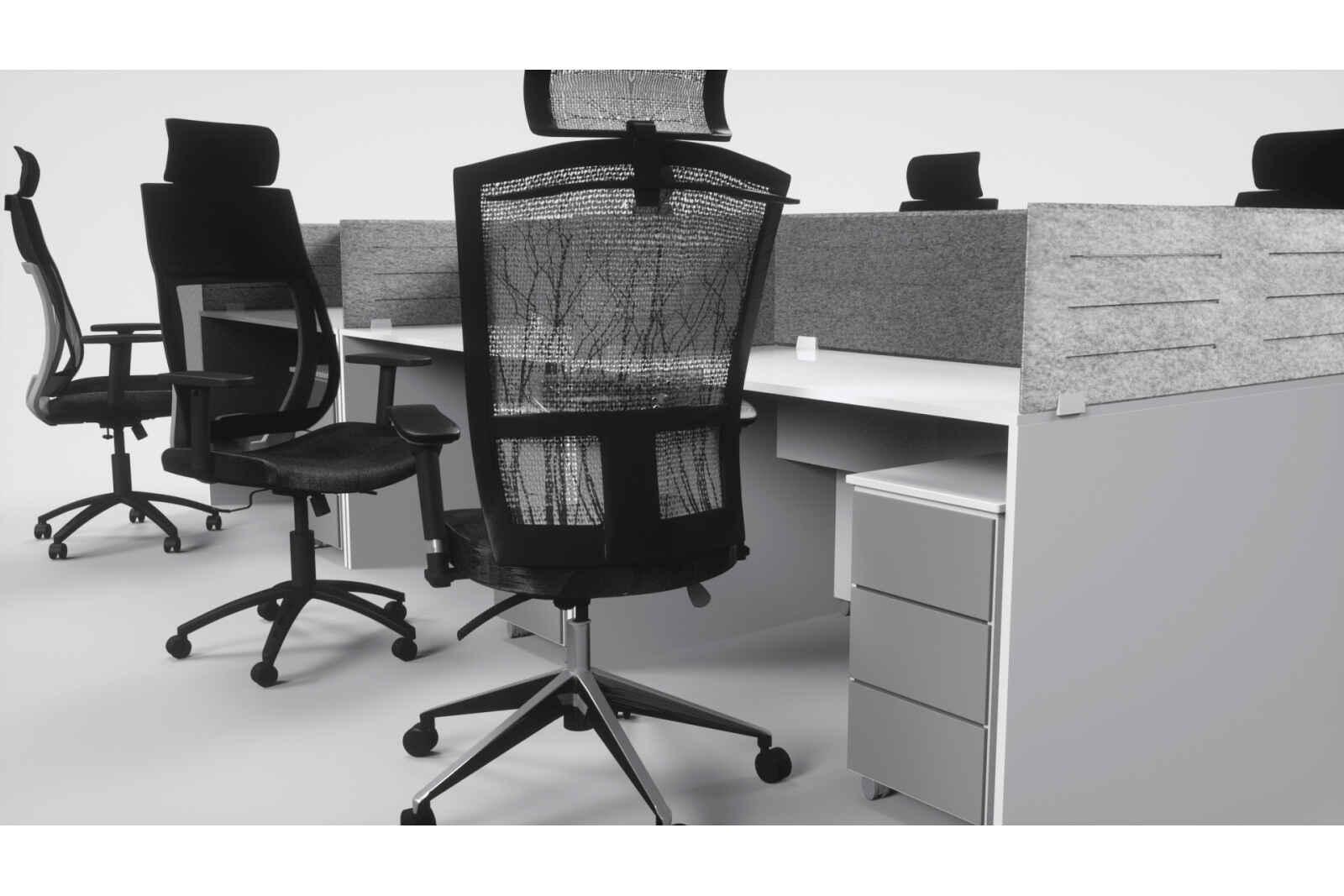 кресла с сетчатой спинкой
