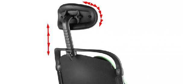 регулируется подголовник кресла