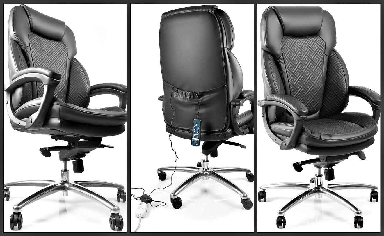 офисное массажное кресло черное